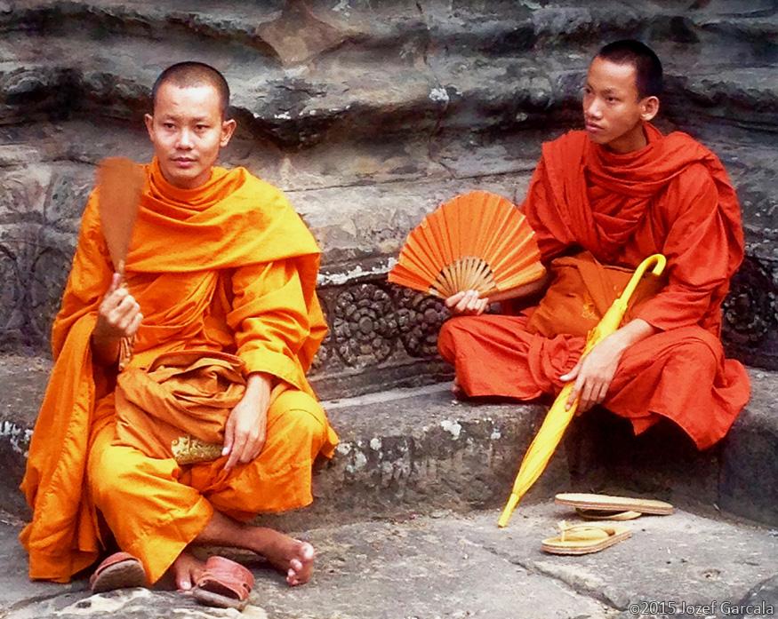 Buddhist Monks In Angkor Wat