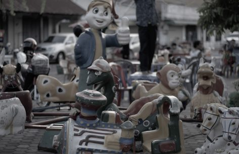 Street Funfair In Laos